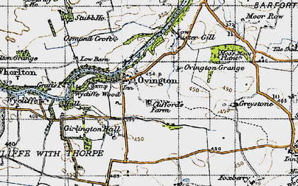 Old map of Wycliffe Wood in 1947