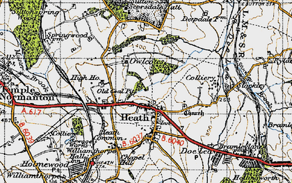 Old map of Owlcotes in 1947