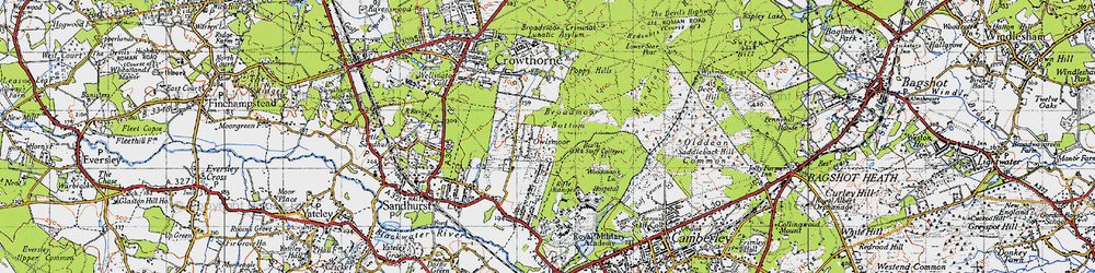 Old map of Windsor Ride in 1940