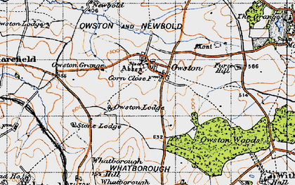 Old map of Whithcote Hall in 1946