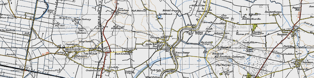 Old map of Owston Ferry in 1947