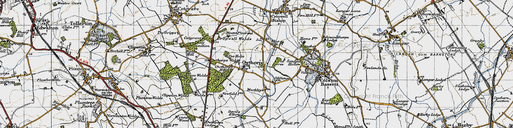Old map of Wolds Hill in 1946