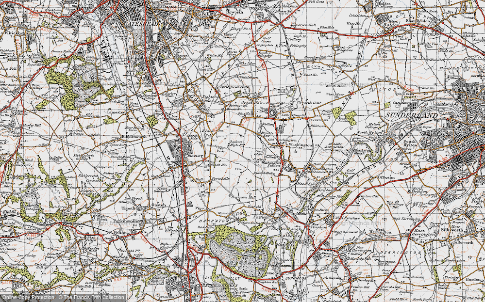 Old Map of Oxclose, 1947 in 1947