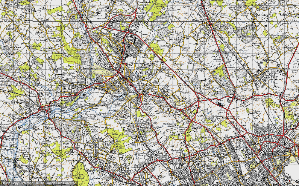 Old Map of Oxhey, 1946 in 1946