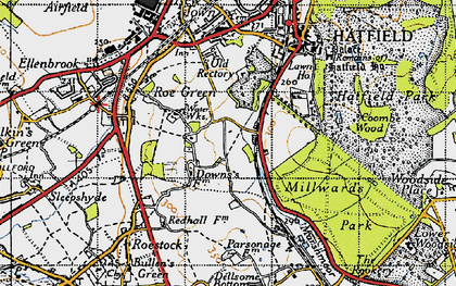 Old map of Oxlease in 1946