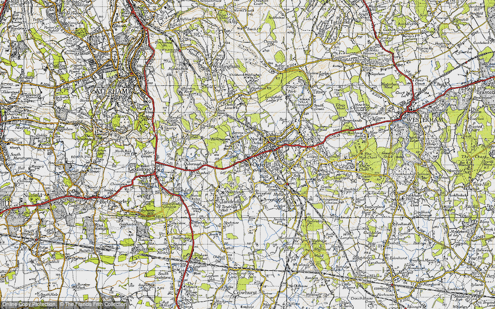 Old Map of Oxted, 1946 in 1946