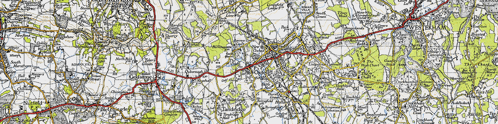 Old map of Oxted in 1946