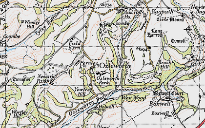 Old map of Ozleworth in 1946