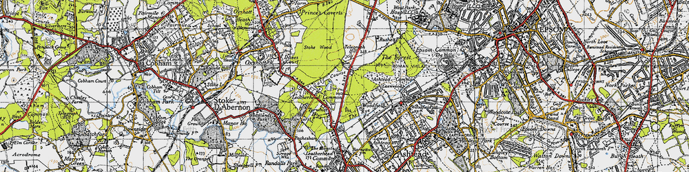Old map of Wood Field in 1945