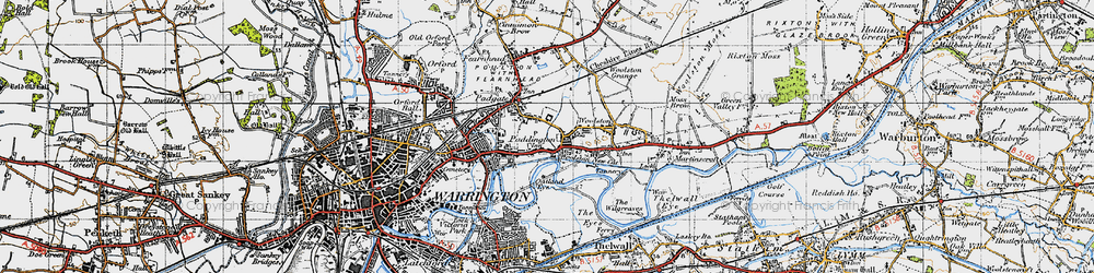 Old map of Paddington in 1947