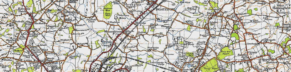 Old map of Lawness in 1946