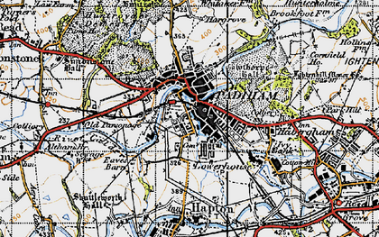 Old map of Padiham in 1947