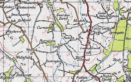 Old map of Westacombe in 1946