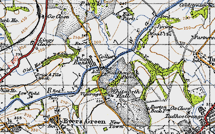 Old map of Whitworth Hall Country Park in 1947