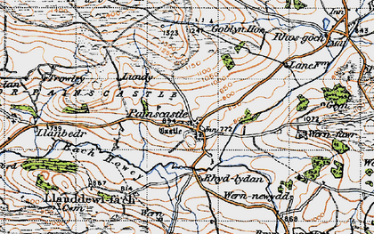 Old map of Bachawy in 1947