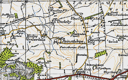 Old map of Admiral Plantn in 1947