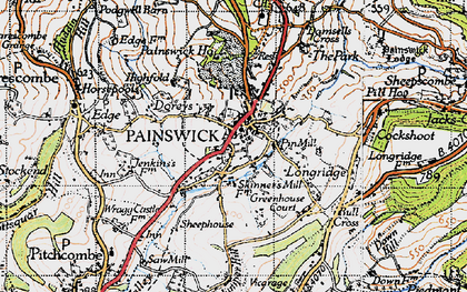 Old map of Painswick in 1946