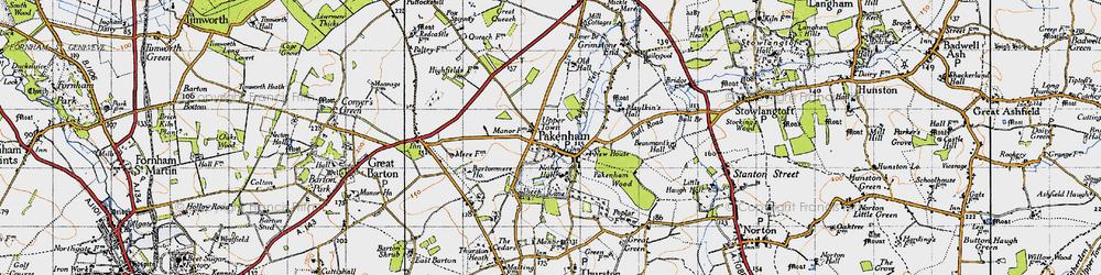 Old map of Pakenham in 1946