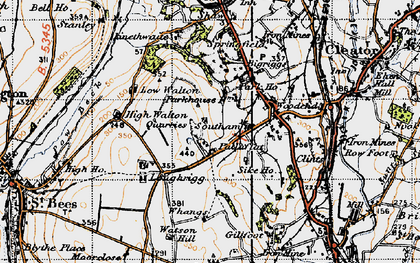Old map of Whangs in 1947