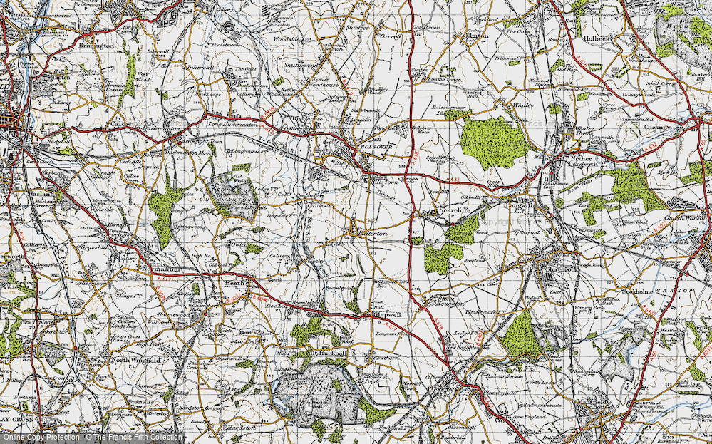 Old Map of Palterton, 1947 in 1947