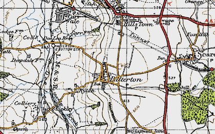Old map of Palterton in 1947