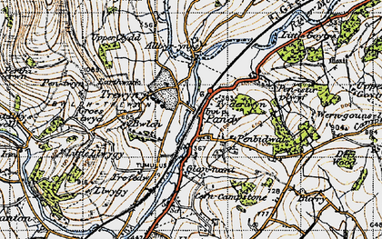 Old map of Alltyrynys in 1947