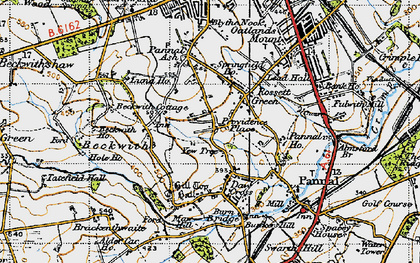 Old map of Yew Tree in 1947