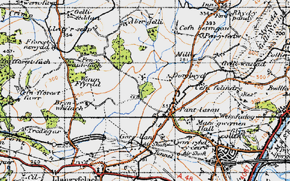 Old map of Abergelli Fm in 1947