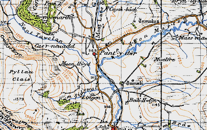 Old map of Lingen in 1947