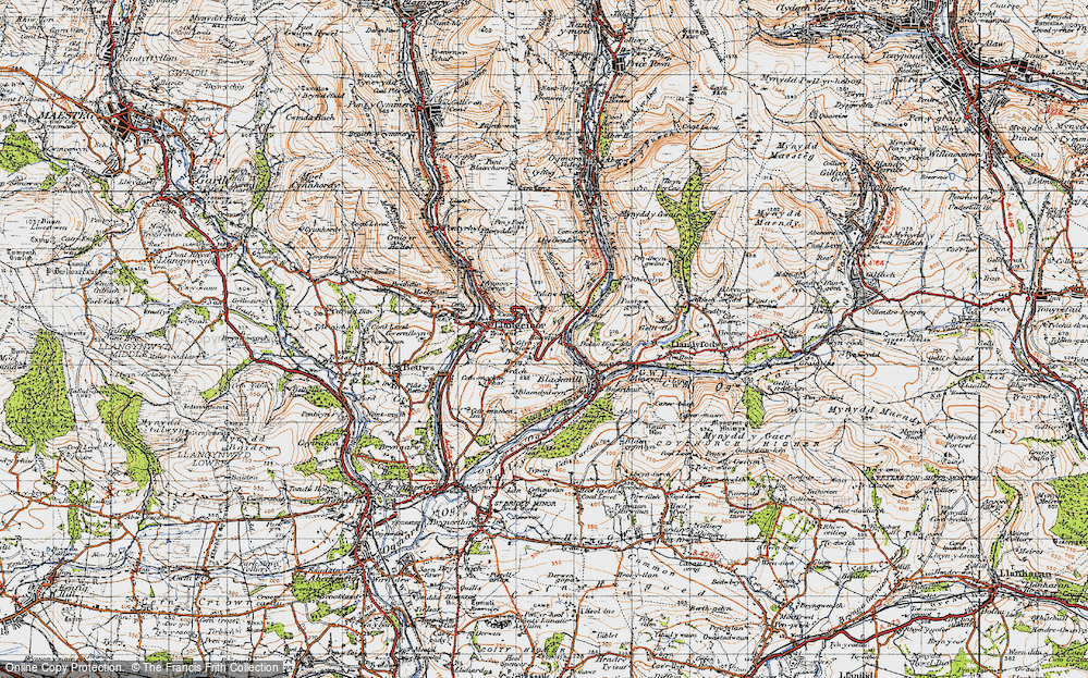 Old Map of Pant-yr-awel, 1947 in 1947