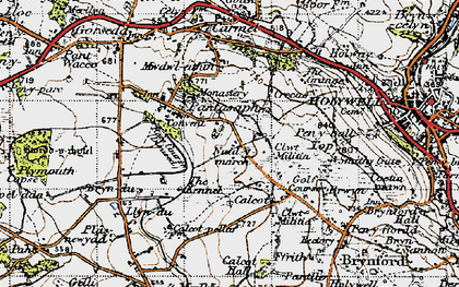 Old map of Pantasaph in 1947