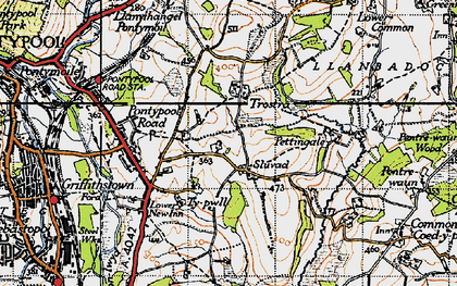 Old map of Panteg in 1946