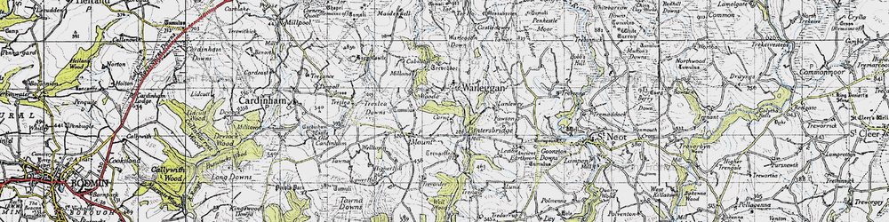 Old map of Yetta in 1946