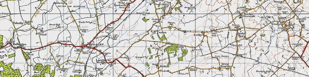 Old map of Wire Hill in 1946