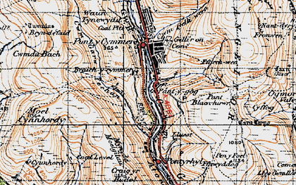 Old map of Yr Hyl in 1947