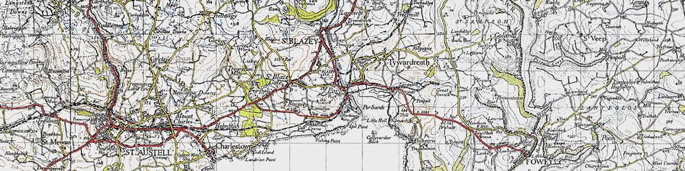 Old map of Par in 1946