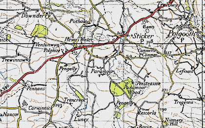 Old map of Paramoor in 1946