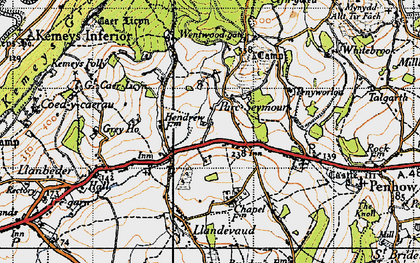 Old map of Parc-Seymour in 1946