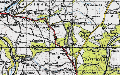 Old map of Park in 1946