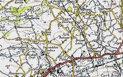 Old map of Park Bottom in 1946