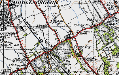 Old map of Park End in 1947