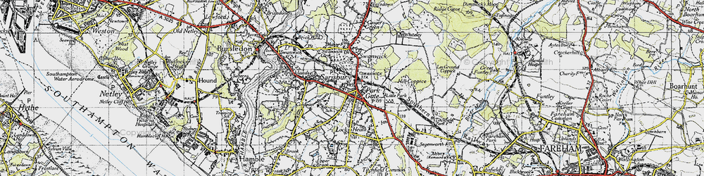 Old map of Park Gate in 1945