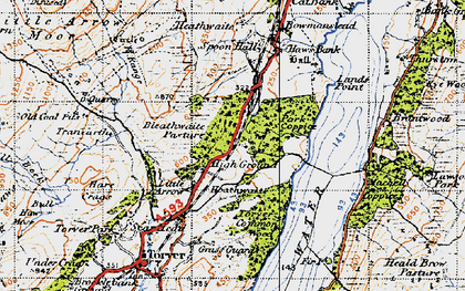 Old map of Park Gate in 1947