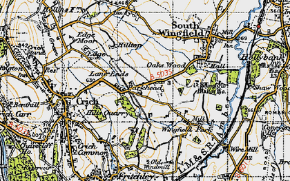 Old map of Park Head in 1947