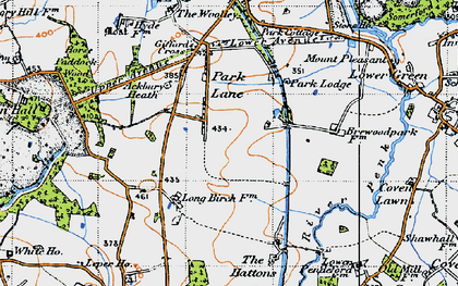 Old map of Ackbury Heath in 1946