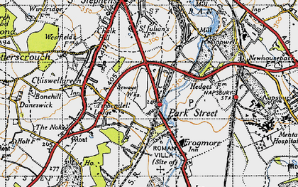 Old map of Park Street in 1946
