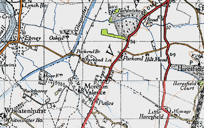 Old map of Parkend in 1946