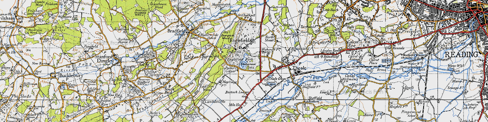 Old map of Wickcroft in 1945