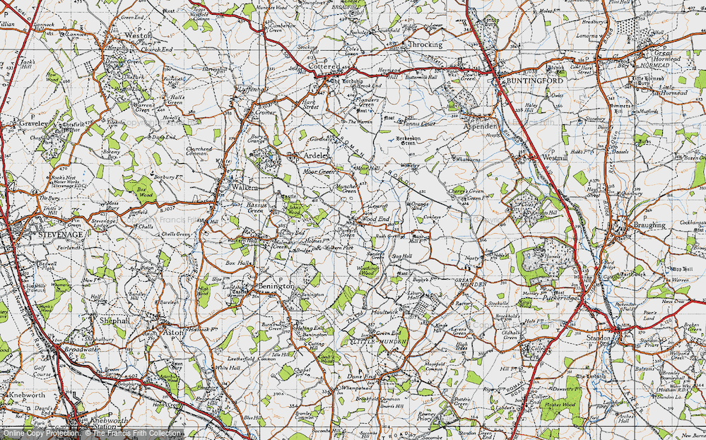 Old Map of Historic Map covering Leycroft in 1946
