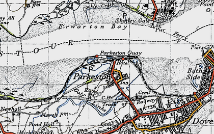 Old map of Parkeston in 1946